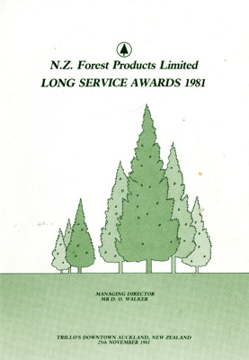 Programme, N.Z. Forest Products Limited, Long Serv...