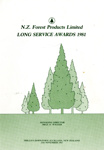 Programme, N.Z. Forest Products Limited, Long Service Awards 1981; New Zealand Forest Products Limited; 25.11.1981; MT2017.21.24