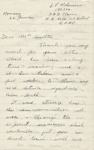 Letter, Major L.P. Molineux to Clara Quilter re her husband's death; Major Laurence Peile Molineux (138386); 26.06.1944; MT2015.20.68