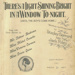 Music Score, 'There's a Light Shining Bright In The Window Tonight (Until The Boys Come Home.)'; Gerrard and Foley; 1916; MT2012.166.2