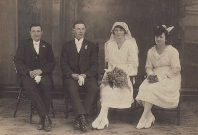 Photograph [Hesselin-Gourlay Wedding]; Crown Studio (Gore); 03.09.1921; MT2013.23.4