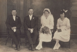 Photograph [Hesselin-Gourlay Wedding]; Crown Studio (Gore); 03.09.1921; MT2013.23.4