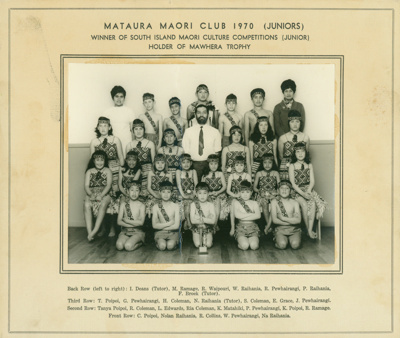 A black and white photograph of the Mataura Maori ...