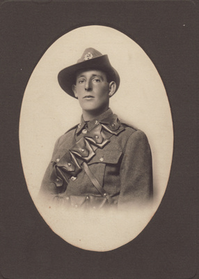 Photograph [Trooper Charles Leonard Humphries]; unknown photographer; 1916-1918; MT2014.18.6