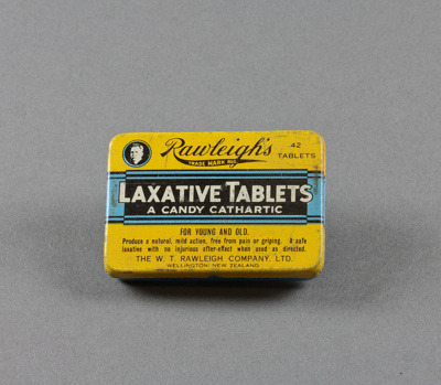 Tin; Rawleigh's Laxative Tablets donated to us by ...
