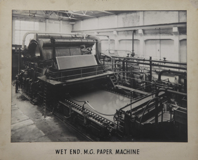 Photograph [Wet End, MG Paper Machine, Mataura Paper Mill]; unknown photographer; 1962-1970; MT2012.15.15
