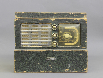 Radio; this Golden Knight radio, was made by Radio...