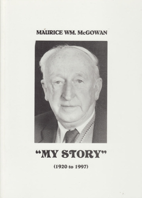 Book; An autobiography written by Maurice William ...
