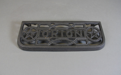 Oven Tray Rest; a cast-iron oven tray rest for a S...