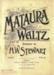 Music Score, 'Mataura Waltz'; Stewart, H. W.; 1910- 1920s; MT2012.164.4