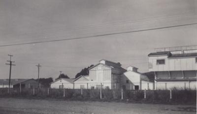 Photograph [Exterior Mataura Freezing Works] ; unknown photographer; 1964; MT2011.185.13