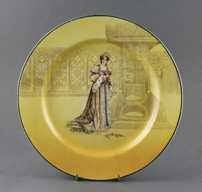 Plate; a single Royal Doulton plate, in their 'D37...