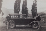 Photograph [Two Men Standing by a Car]; unknown photographer; 1920s-1940s; MT2011.185.263