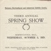 Schedule, Mataura Horticultural and Industrial Exhibit Society, Third Annual Spring Show 1928.; Mataura Horticultural and Industrial Exhibit Society; 1928; MT2018.1.4