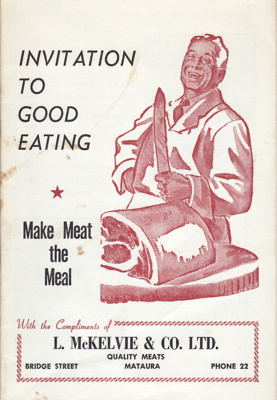 Cookery book,  Invitation to Good eating; Courier Publications, N.Z.; 1969; MT2012.88.2