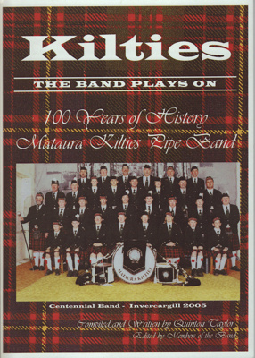 Book; 'Kilties, 100 Years of History, Mataura Kilt...