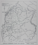 Map of Mataura Farm Locations [Showing Farmers East of the River, 1882-1910]; Department Survey and Land Information; 1990; MT2014.44.8