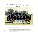 Photograph [Mataura Kilties Pipe Band]; unknown photographer; 1991; MT2014.36.26