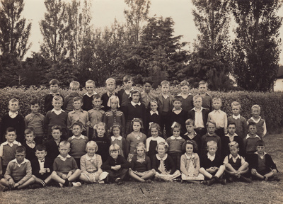 A black and white photograph of the Room 4 pupils ...