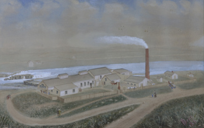 Painting, Watercolour, Mataura Paper Mill, 1885; Best; 1885; MT2012.15.1
