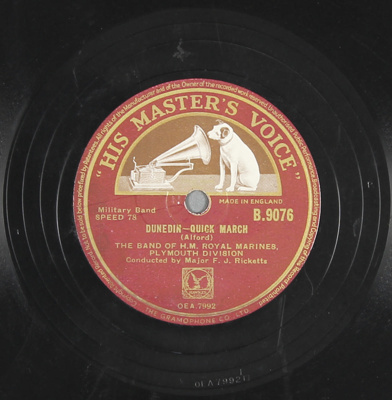 Gramophone record (78rpm speed). Artist: The Band ...