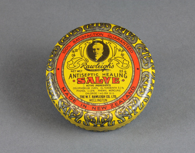 Tin; Rawleigh's Antiseptic Healing Salve; Rawleigh, W. T. Co. Ltd.; 1930-1980; MT2016.16.6