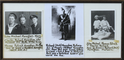 Three reproduction black and white photographs dep...