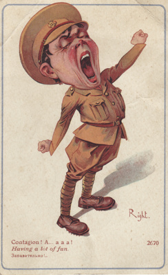 Post card; dated 13 November 1917 from trooper Hug...