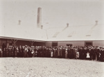 Photograph [Mataura Dairy Factory, large group of people, 1911]; The Mora Studio (Gore); 1911; MT2011.185.82