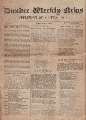 Book; Supplement of Scottish Songs, published by D...