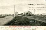Postcard [Mataura Railway Station and Express Train]; Muir & Moodie; c.1905; MT2018.3.1