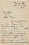Letter, Lieutenant Thomas Quilter to Southland Forest Service, Southland; Thomas George Quilter; 1942-1943; MT2015.20.62