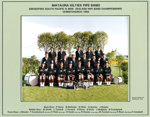 Photograph [Mataura Kilties Pipe Band]; Beverley Studios Ltd; 1993; MT2014.36.27