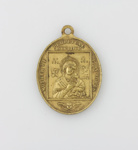 Religious Medal, the Virgin Mary & Saint Alphonsus [Thomas George Quilter]; unknown maker; 1930-1940; MT2015.20.12