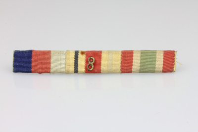 Ribbon bar; 1939-1945 Star, Africa Star (with 8th ...