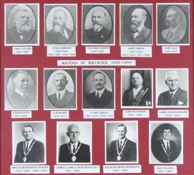 Photograph [Mayors of Mataura] ; McKelvie, Ian; 1995; MT2012.19