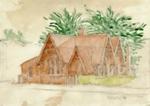 Artwork [Sketch of First Mataura Post Office]; Walton, H; 1966; MT2015.13