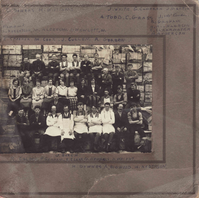 Photograph [Mataura Paper Mill employees]; unknown photographer; 1920-1940; MT2011.185.36