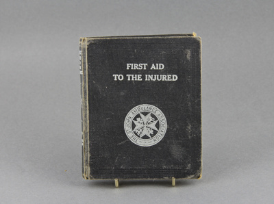 Book, St John, First Aid Manual; 1941; MT2012.53.3