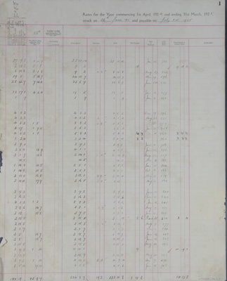 Rates Book, 1924-1926; Mataura Borough Council; 1924-1926; MT2000.166.2.2