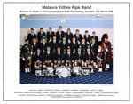 Photograph [Mataura Kilties Pipe Band]; Bremford, Arthur (Gore); 1996; MT2014.36.29