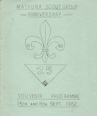 Programme, Mataura Scout Group, 25th Anniversary; unknown maker; 1962; MT2012.4.7