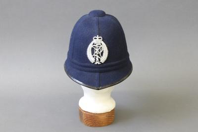 Police Helmet; a New Zealand Police constable's he...