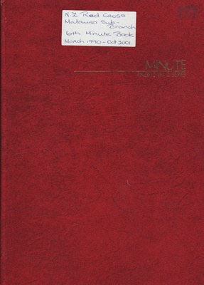 Minute Book; Red Cross, Mataura Sub-Branch. Book 6...