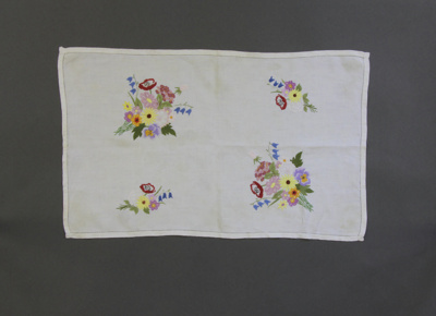 Tray cloths; two identical rectangular tray cloths...