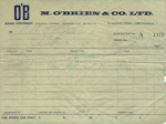 Packing Slip; M O'Brien & Co Limited; 15.06.1965; MT2012.16.5