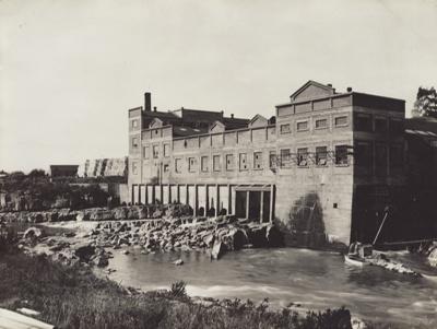 Photograph, 2 of 16, Mataura Paper Mill Album [Hydro Turbine Outfall]; unknown photographer; 1930; MT2012.137.2