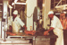 Photograph [Bandsawing Meat, Mataura Freezing Works]; Green,Trevor; 03.04.1981; MT2013.3.37
