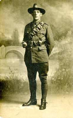 Post card; a digital scan of Trooper Charles Leona...