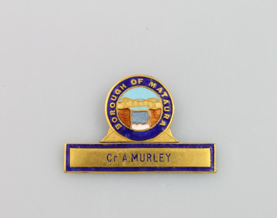 Badge, Mataura Borough Council; unknown maker; 1903; MT2000.166.5.3